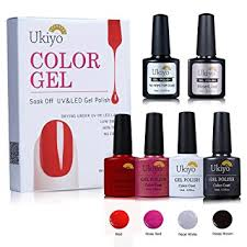 amazon com uv gel nail polish gelpolish set with no wipe base
