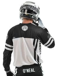 white motocross gear oneal black white 2018 ultra lite le 70 mx jersey oneal
