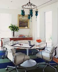 eames chair and table dining room contemporary with round dining