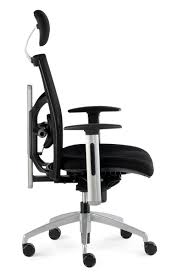 fauteuil a de bureau siège de bureau ergonomique confortable en tissu noir nantes