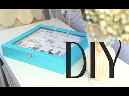necklace earring display box images Diy rings earrings jewelry display box organizer tiffany co jpg