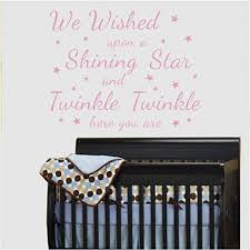 we wished upon a shining star quotes wall stickers wall decals quotes wall stickers