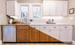 how to make cheap kitchen cabinets look better best kitchen cabinet refacing for your home the home depot