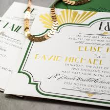 art deco wedding invitations too chic u0026 little shab design