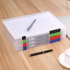 Paper Organizer For Desk Practical A4 Transparent File Storage Box Clear Plastic Document