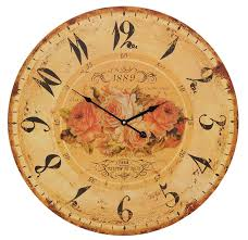 Pendules Murales Cuisine by Horloge Ronde Style Shabby Chic Fleurs Love Campagne Et Style