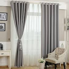 Gray Blackout Curtains Koting Home Fashion Gray Polyster Linen Blackout Thermal Insulated