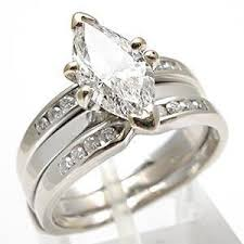 marquise cut wedding set 1 5ct marquise cut engagement bridal ring set solid