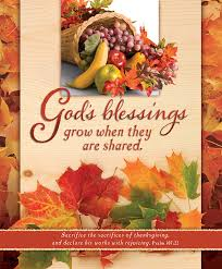 thanksgiving blessings the apostle the