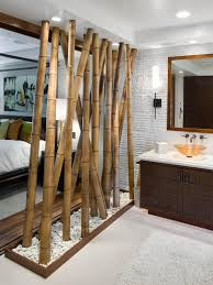 oriental style bathroom design ideas bamboo partition in the oriental bath
