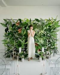 Wedding Backdrop Trends Build Your Dream Backdrops With Wayfair Tropical Plants