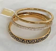 bracelet kors images Michael kors mkj4543710 animal instinct gold glitz set of 3 bangle jpg