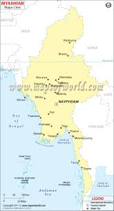 China Map Cities by Myanmar Cities Map Major Cities In Burma