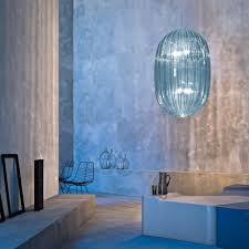Blue Glass Pendant Light by Blue Pendant Light Design