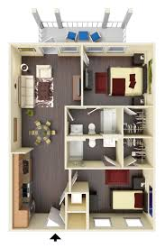 1 bedroom apartments in ta highland square at oxford apartments in oxford mississippi
