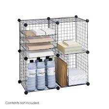 Metal Wire Storage Shelves Amazon Com Safco Products 5279bl Wire Storage Cube Set Black