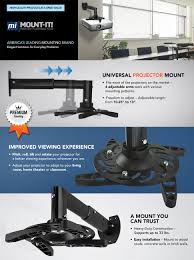 optoma home theater projector amazon com mount it projector mount wall mount universal
