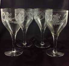 garland pattern water goblets wine glasses by fostoria glass co