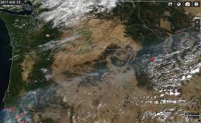 Wildfire Map Northwest 2017 by Fire Detection Cimss Satellite Blog