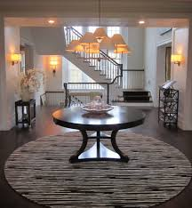 Round Foyer Table by Round Foyer Table Entry Traditional With Ivory Transitional Wall