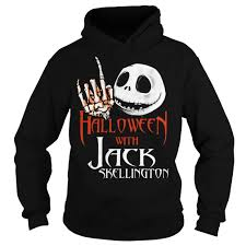 halloween with jack skellington shirt hoodie sweater tank top