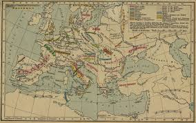 Historical Maps Of Europe by Of The Germanic Migrations 150 1066