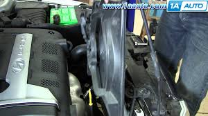 2003 hyundai santa fe radiator how to install replace lh radiator ac condenser cooling fan 2001