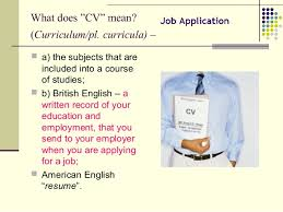 What Does Resume Job Application