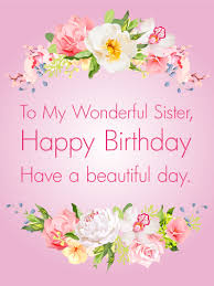 birthday card to sister birthday card birthday cards for sisters