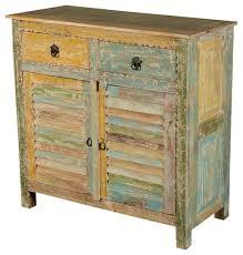 Reclaimed Kitchen Cabinet Doors Rainbow Shutter Door Reclaimed Wood Kitchen Storage Cabinet