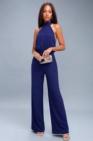 royal blue jumpsuit chic royal blue jumpsuit halter jumpsuit