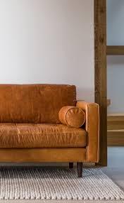 tan sofa decorating ideas tan brown leather sofa italian leather article sven modern
