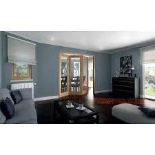 Jeld Wen Room Divider Jeld Wen 3 Door Shaker White Oak 1 Lite Clear Glazed Roomfold