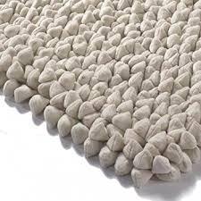 pebble rug pebble chamois rug white