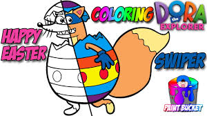 dora the explorer easter egg coloring page easter nick jr