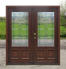 wood glass front doors exterior double doors solid mahogany wood double doors