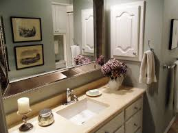 bahtroom pleasant vanity plus simple wash basin near flower decor
