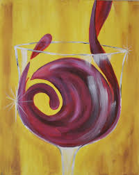 martini glass acrylic painting let u0027s paint tonight