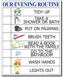 printable evening schedule kid s evening routine free printable checklist bathroom routine