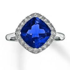 Jared Cushion Cut Engagement Rings Bling Fling Diamond And Sapphire Rings