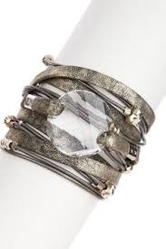 swarovski crystal leather bracelet images Sara designs swarovski crystal wrap bracelet fall winter style jpg