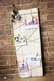 christmas card display holder christmas card holder diy shanty 2 chic