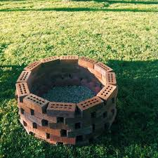 Firepit Base Diy Pit Bricks With Pit Bricks Exploding And Grass In