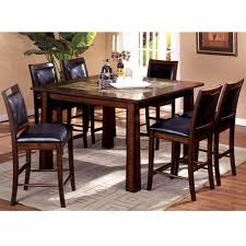 kitchen table dining furniture 7 piece counter height dining set