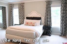 Hanging Curtains High And Wide Designs How To Sew Tab Back Curtains Guest Tutorial Birdie Secrets