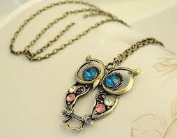vintage owl necklace jewelry images Vintage owl necklace boxystore jpg