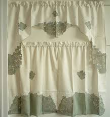 chic country kitchen curtain set with themes pattern flower