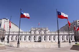Chile National Flag Palacio De La Moneda In Santiago De Chile Chile Franks Travelbox