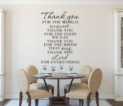 Kitchen Wall Decorating Ideas Photos Christian Wall Art Kitchen Prayer Wall Decal Wall Decals By