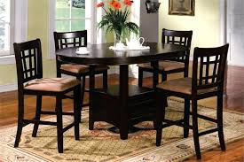 Round Espresso Dining Table Counter Height Dining Room Chairs Girard 7 Piece Counter Height